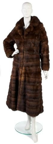 162: A Galanos Brown Sable Fur.