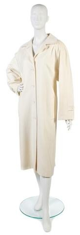 164: A Bill Blass Cream Wool Coat.