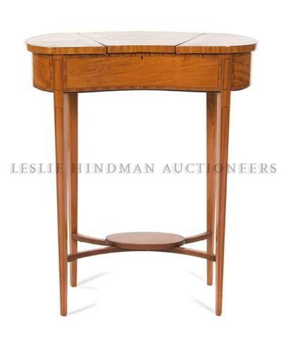 3: A Satinwood Poudresse, Height 30 x width 25 inches.