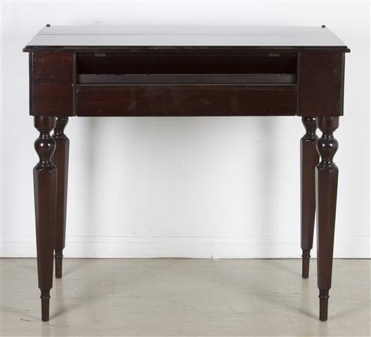 8: A Victorian Mahogany Writing Desk, Height 32 1/2 x w
