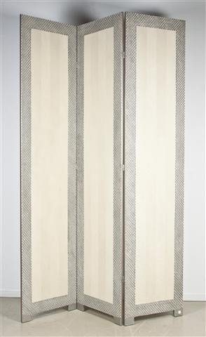 9: A Contemporary Painted Room Divider, Height 95 inche