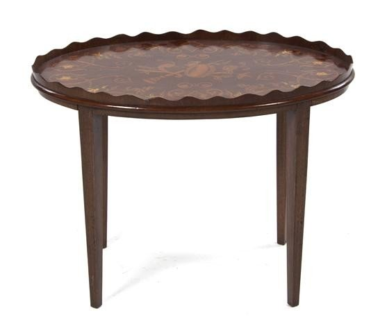11: A Marquetry Low Table, Height 19 1/2 x width 26 inc