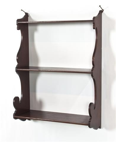 12: A Mahogany Hanging Etagere, Height 21 inches.