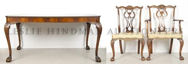 13: A Georgian Style Dining Table, Height of armchair 3