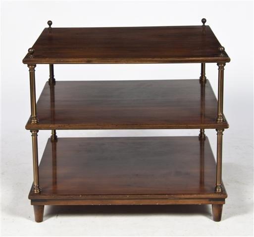 15: A Georgian Style Three-Tiered Mahogany Side Table,