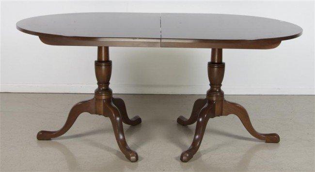19: An American Mahogany Double Pedestal Table, Kitting