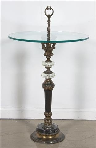 24: A Neoclassical Style Occasional Table, Height 30 1/