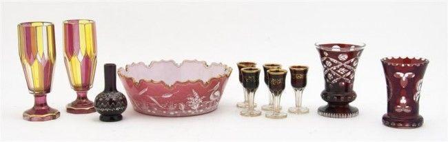 385: A Victorian Glass Center Bowl, Diameter of first 9