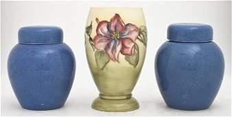 555: A Group of Three English Ceramic Vessels, Moorcrof