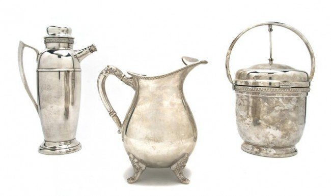 580: A Collection of Silverplate Barware, Height of tal