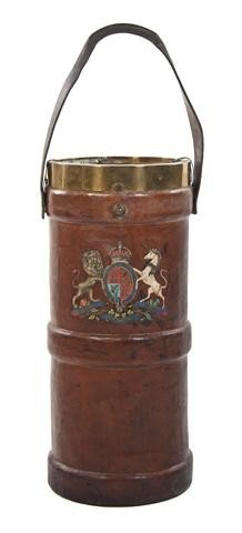 3: A British Leather Fire Bucket, Height of bucket 27 1