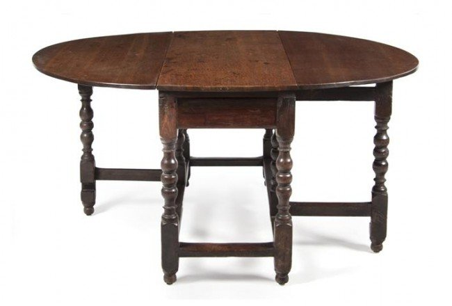 5: A William and Mary Style Oak Gate-Leg Table, Height