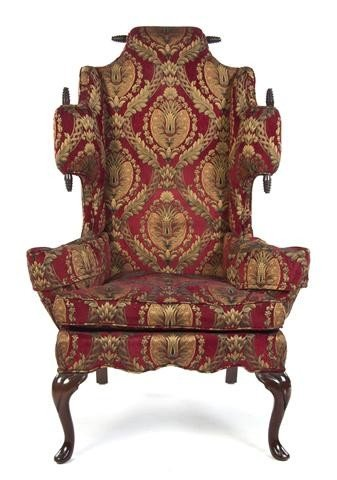7: A William and Mary Style Wingback Armchair, Height 5