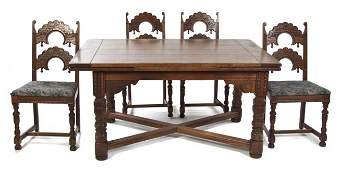 225: An American Oak Dining Room Suite, Height of chair