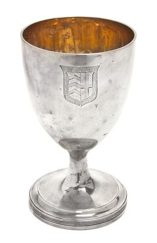 643: An English Silver Goblet, Henry Green, Height 6 3/