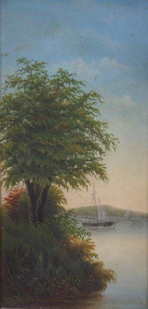 19: American School, 19th century, Waterscape