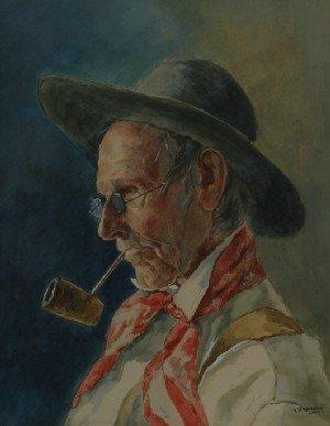 23: William Clusmann, (American, 1859-1927), Man in Blu