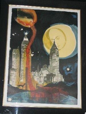 176: Salvador Dali, (Spanish, 1904-1989), Manhattan Sky