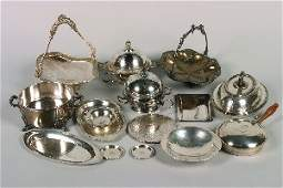 388 A Group of Silver and Silver Plate Serving Article