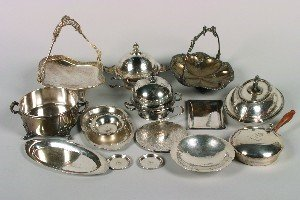 388: A Group of Silver and Silver Plate Serving Article