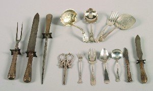 391: A Group of Assorted Silver and Silver Plate Flatwa