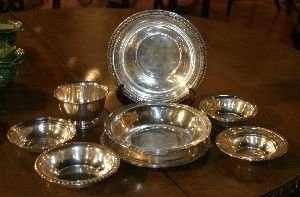 395: A Group of Nine Silver Bowls, Diameter of largest