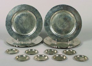 396: A Set of Eleven Unmarked Silver Plate Chargers, Di