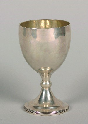 399: An English Silver Goblet, London, Height 6 1/2 inc
