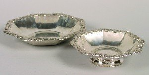 400: A Group of Two German Octagonal Silver Serving Bow
