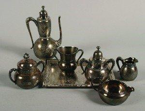 401: A Three-Piece Silver Plate Coffee Service, Rockfor