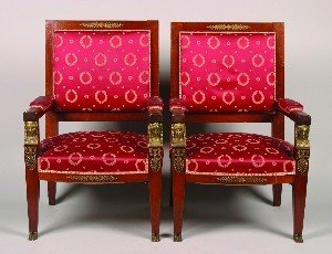 678: A Pair of Empire Revival Armchairs.