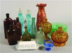 790: A Group of Colored Glass Table Articles, Height of