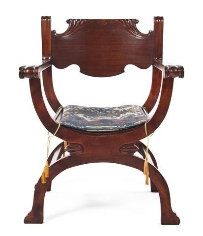 3: An American Mahogany Armchair, Height 38 inches.