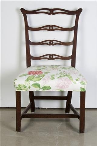 6: A Georgian Style Ribbon Back Chair, Height 37 1/2 in