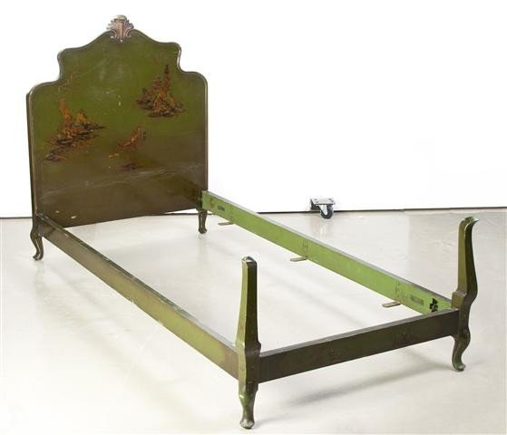 11: A Pair of Painted Beds, Height 50 inches.