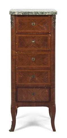 21: A Louis XVI Style Lingerie Chest, Height 40 x width