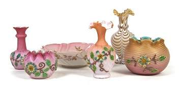 A Collection of Six of Victorian Glass Articles, H