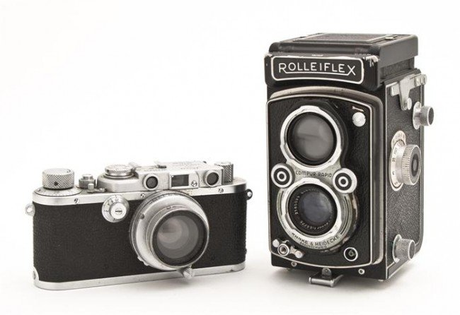 212: A Group of Two Vintage Cameras, Height of tallest