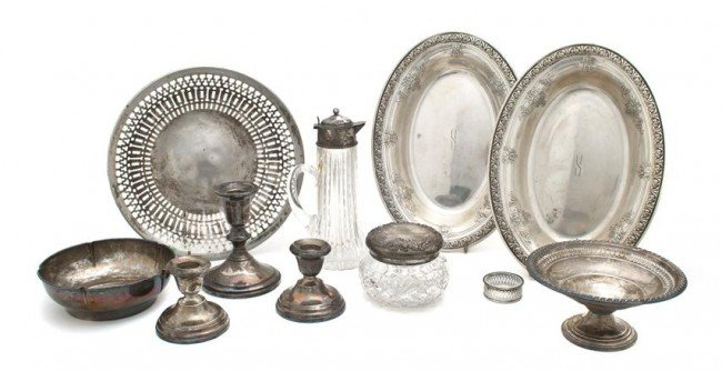 491: A Group of Sterling Silver Articles, Width of wide