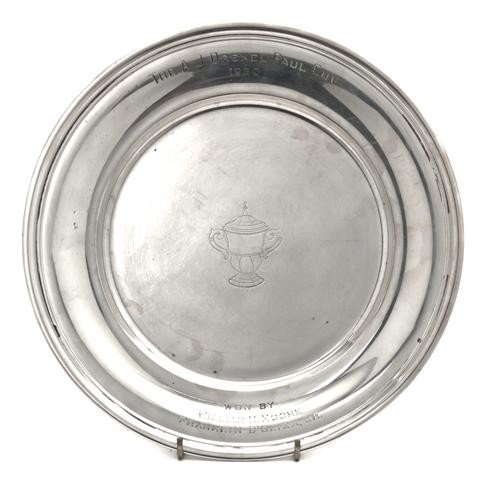494: An American Sterling Silver Tray, Reed & Barton, D
