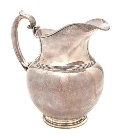 495: An American Sterling Silver Water Pitcher, Durgin,