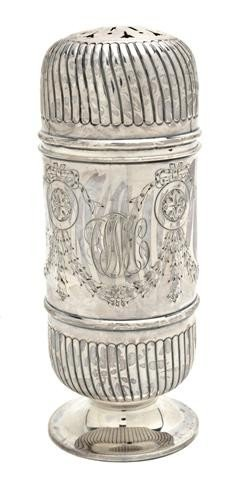 502: An American Sterling Silver Sugar Caster, Height o