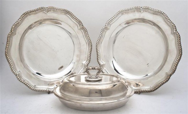 511: Two American Silverplate Chargers, Tiffany & Co.,
