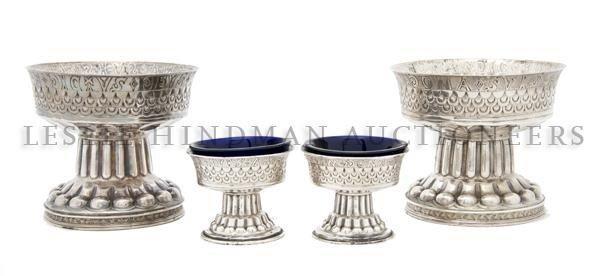 557: An English Four Part Silver Garniture, George Nath