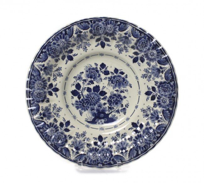 A Delft Ceramic Charger, Diameter 17 1/2 inches.