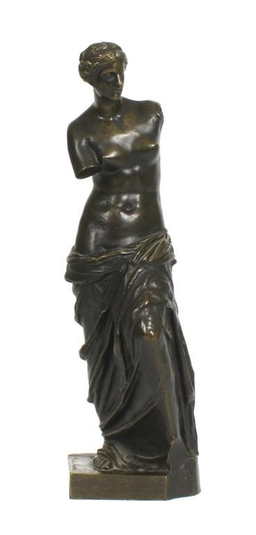 A French Bronze Figure, Height 18 1/2 inches.