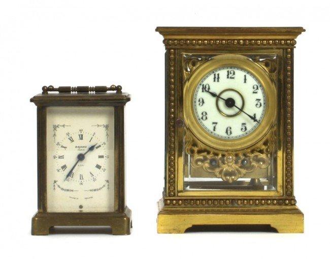 An American Brass Carriage Clock, Waterbury, Height of
