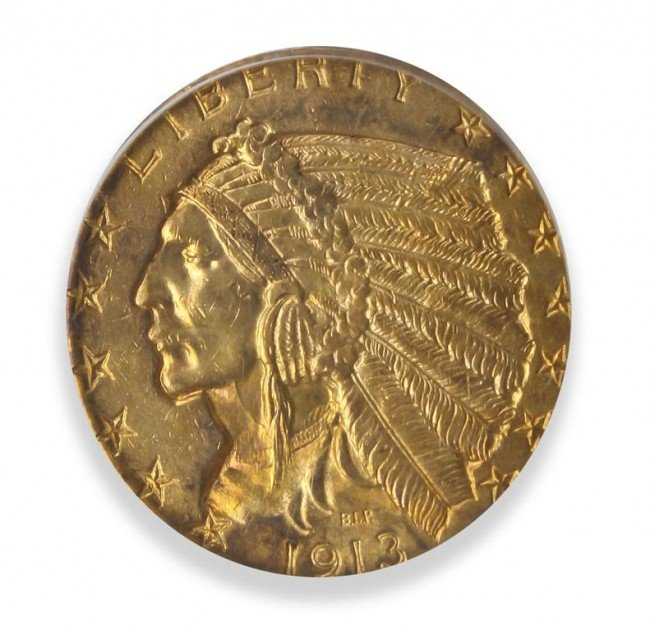 Four American $5 Indian Gold Coins,