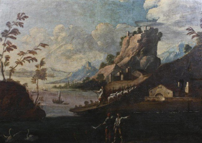 Franz Ignaz Flurer, (German, 1688-1742), Idyllic Landsc
