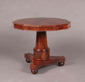 3: A Victorian Mahogany Center Table,